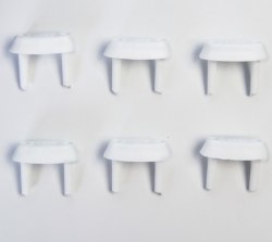 Заглушки для электрических розеток, к-т 6шт, белый Крошка Я 2187661