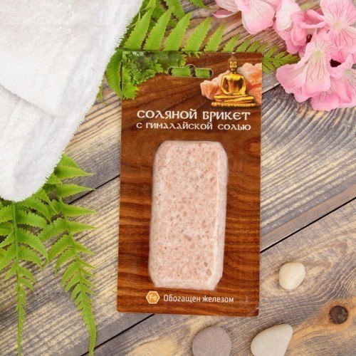 Соляной брикет Мини с гималайской солью 0.2кг Соляная баня