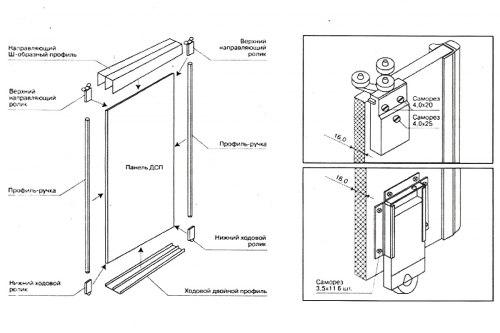 """Комплект роликов """"Универсаль"""" (2в+2н) длля шкафов-купе AMIX ALI-16"""