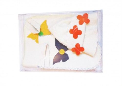 Набор для бани и сауны «Бабочка» (коврик ,шапка ,рукавица) OBSI БВ149