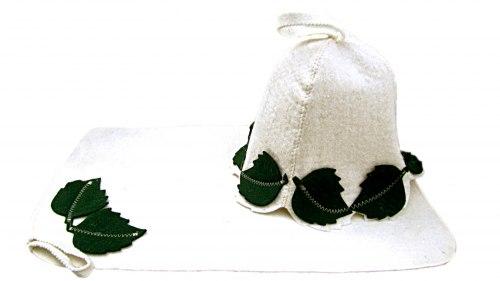 Набор для бани и сауны «Березка» (шапка, коврик) OBSI 131019