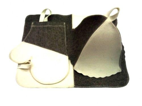 Набор для бани и сауны «Эконом» (двухцветный) 3 предмета OBSI БВ044