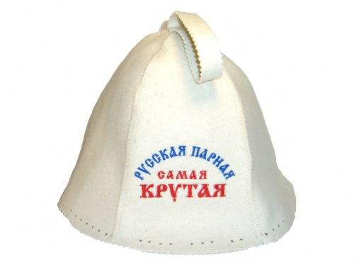 Шапка для бани и сауны «Русская парная» (войлок) OBSI БВ049