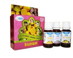 Набор эфирных масел «Бодрящий» (бергамот ,лимон ,анис) OBSI БС-22