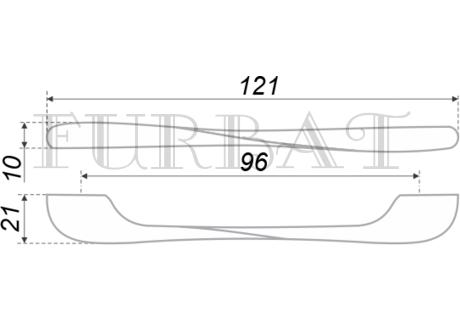 Ручка мебельная FURBAT 21074-128 никель