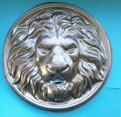 Штампованный элемент голова льва большая 19660