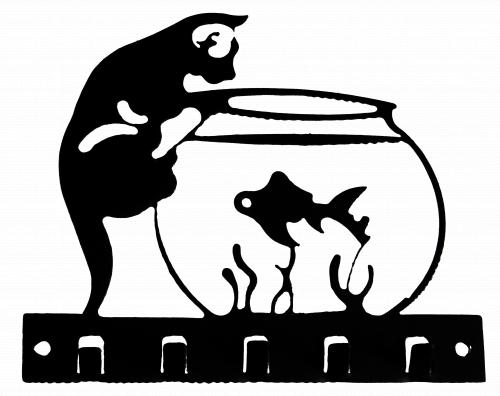 """Ключница № 9 """"Кот-рыбак"""""""