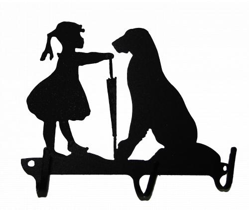 Ключница № 11 Девочка и собака