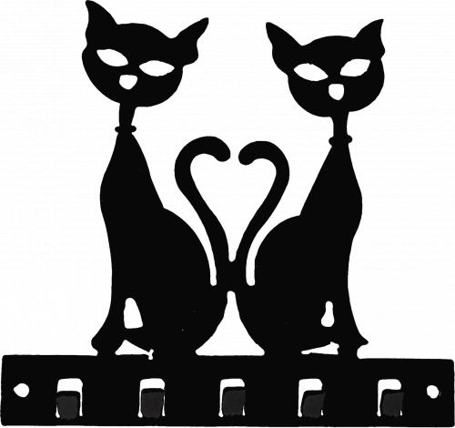 Ключница №12 Коты-друзья