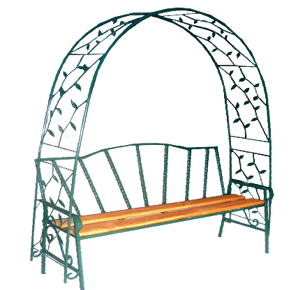 Скамейка № 8 с аркой