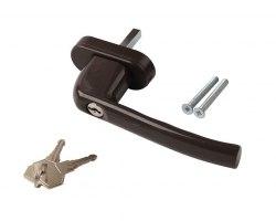 Ручка оконная LUNA алюминиевая 8-мипозиционная с ключом 35 штифт коричневая