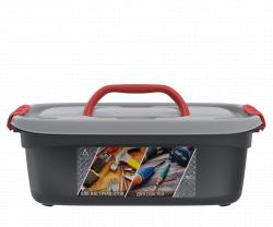 Унибокс с вкладышем 16л (468×342×167мм) (Для инструментов и для рыболовных снастей) АП 427