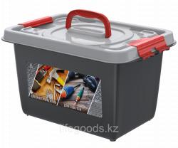 Бокс универсальный с вкладышем 10л (359×242×211мм) (Для инструментов и для рыболовных снастей) АП 406