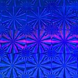 Пленка самоклеящаяся гологорамма SOLLER 0,45*8м М021D синяя