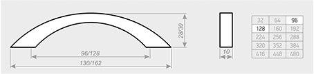 Мебельная ручка АЛДИ С7