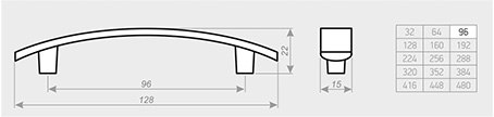 Мебельная ручка АЛДИ С23