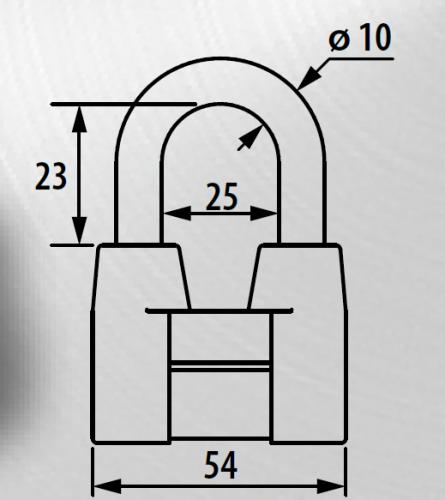 Замок навесной Зенит ВС-4А
