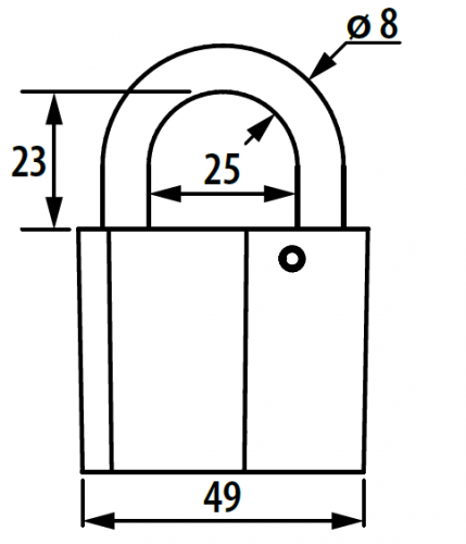 Замок навесной Зенит ВС-26