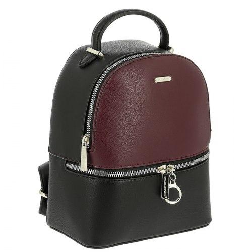Рюкзак женский David Jones 6600-2 серый, коричневый, бордовый