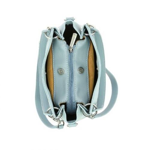 Сумка женская David Jones 6278-1 чёрная, белая, серебро, розовая, голубая