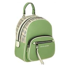 Рюкзак женский David Jones 6282-2 чёрный, белый, зелёный
