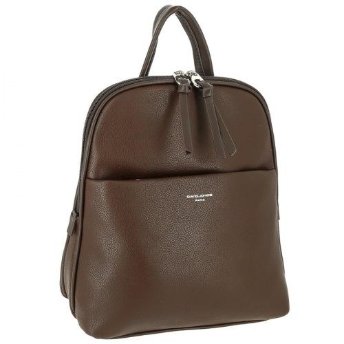 Рюкзак женский David Jones 6219-2 чёрный, коричневый, серый