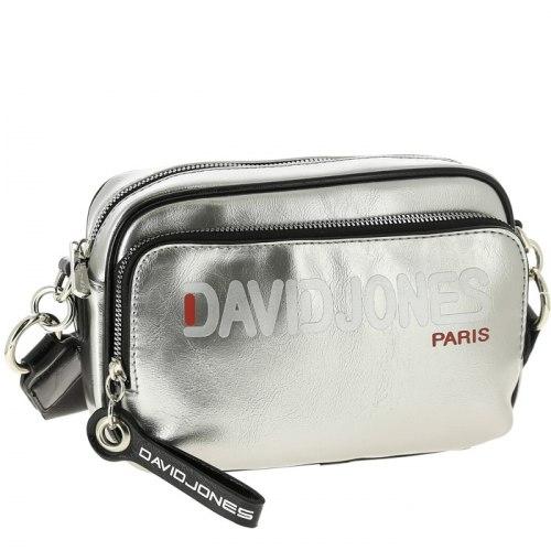 Сумка женская David Jones 6237-2 чёрная, серебро