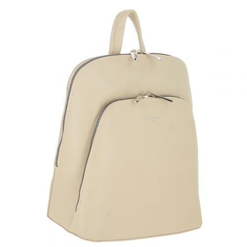 Рюкзак женский David Jones 6031 чёрный бежевый бирюзовый