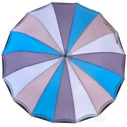 Зонт трость Три слона 1110 Голубой