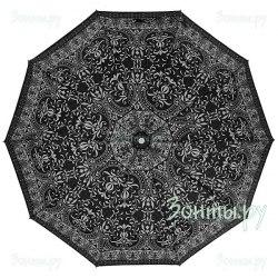 Зонт полуавтоматический Zest 53616 Чёрно- белый орнамент