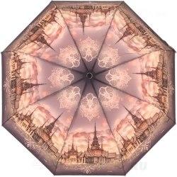 Зонт женский полуавтомат Три слона 881 Персиковый город