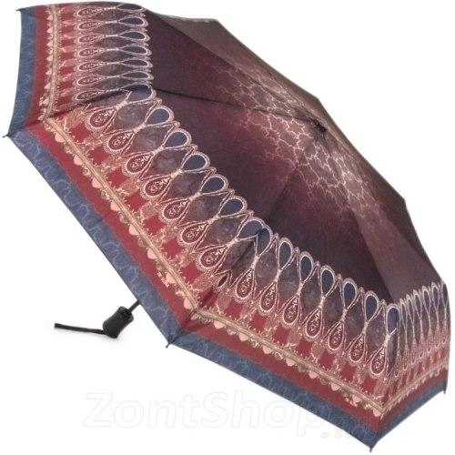 Зонт женский полуавтомат Три слона 881 Бордо