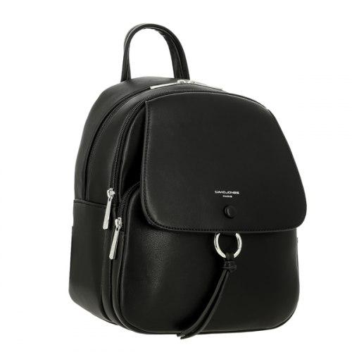 Рюкзак женский David Jones 6277-2 чёрный, белый