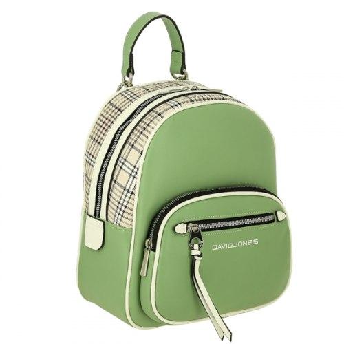 Рюкзак женский David Jones 6282-2 чёрный, белый, голубой, зелёный