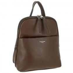 Рюкзак женский David Jones 6219-2 коричневый, серый