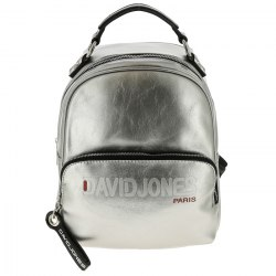 Рюкзак женский David Jones 6237-4 чёрный, серебро
