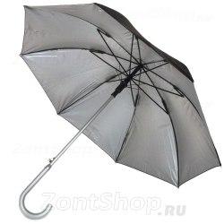 Зонт женский Zest 51660 Серебро с чёрным