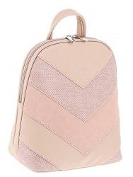 Рюкзак женский David Jones 6203-2 розовый, серый