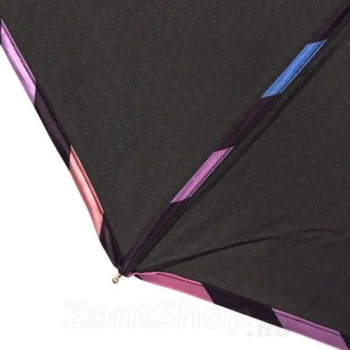 Зонт женский автомат Три слона 107 чёрный