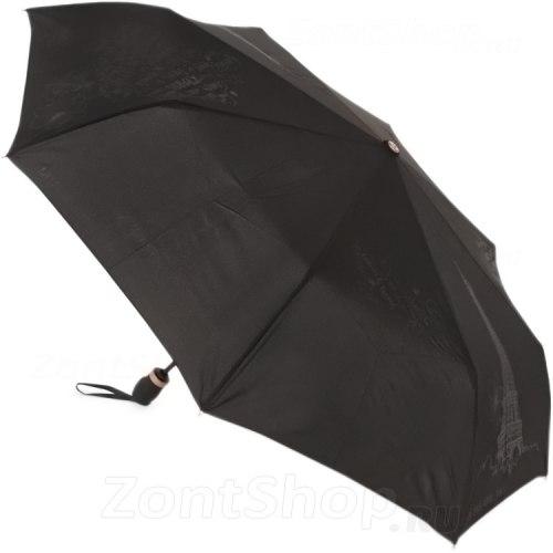 Зонт женский автомат Три слона 198 чёрный Париж