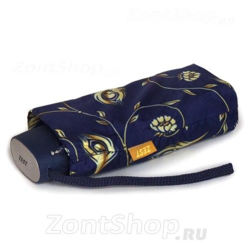Зонт женский механический Zest 55518 синий