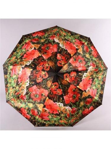 Зонт женский (Сатин) Zest 23944 Маки