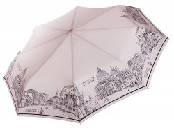 Зонт женский автоматический Три слона 197 бежевый