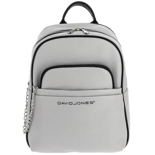 Рюкзак женский David Jones 6529-4 чёрный, белый, зелёный, серый