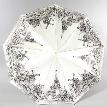 Зонт женский (Сатин) Zest 23944 (Жемчужный Париж)
