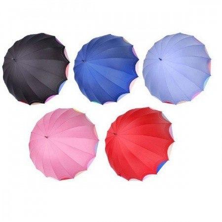 Зонт женский ТРОСТЬ Три слона 1100 (Голубой)