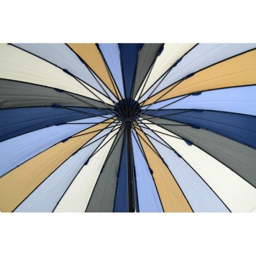Зонт трость Радуга голубая Три слона 2400