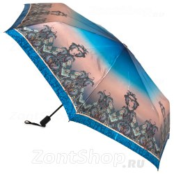 Зонт с голубой абстракцией Три слона 362L