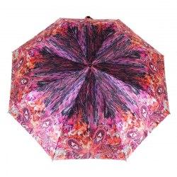 Зонт женский полуавтомат Три слона 882 (Розовый орнамент)