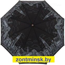 Зонт женский Венеция на чёрном Три слона 197